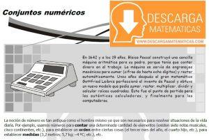 01 DESCARGAR CONJUNTOS NUMÉRICOS - TEORÍA Y EJERCICIOS