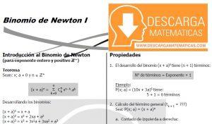 BINOMIO DE NEWTON – ALGEBRA CUARTO DE SECUNDARIA