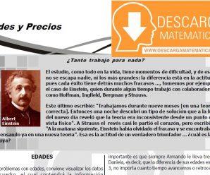 DESCARGA EDADES Y PRECIOS PARA ESTUDIANTES DE PRIMERO DE SECUNDARIA