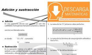 DESCARGAR ADICION Y SUSTRACCION - QUINTO DE SECUNDARIA