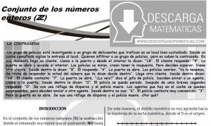 DESCARGAR CONJUNTO DE LOS NÚMEROS ENTEROS