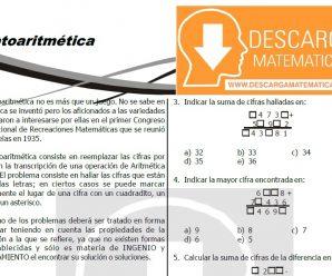CRIPTOARITMETICA PARA ESTUDIANTES DE PRIMERO DE SECUNDARIA