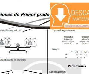 DESCARGAR ECUACIONES DE PRIMER GRADO – ÁLGEBRA SEGUNDO DE SECUNDARIA