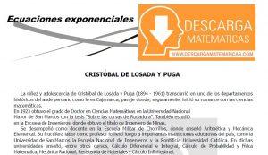DESCARGAR ECUACIONES EXPONENCIALES – ALGEBRA TERCERO DE SECUNDARIA