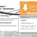 DESCARGAR EJERCICIOS DE FACTORIZACIÓN DE POLINOMIOS – PRIMERO DE SECUNDARIA