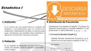 DESCARGAR ESTADISTICA - CUARTO DE SECUNDARIA