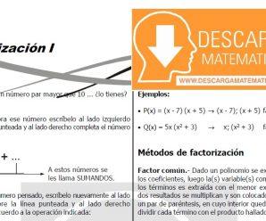DESCARGAR FACTORIZACIÓN – ÁLGEBRA SEGUNDO DE SECUNDARIA
