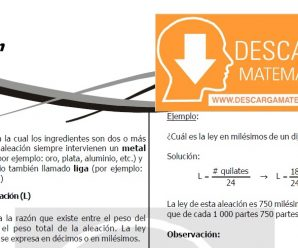 DESCARGAR FICHA DE ALEACIÓN – CUARTO DE SECUNDARIA