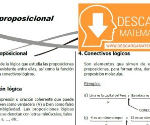 DESCARGAR FICHA DE LOGICA PROPOSICIONAL – CUARTO DE SECUNDARIA