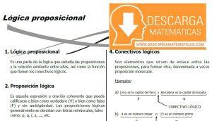 DESCARGAR FICHA DE LOGICA PROPOSICIONAL - CUARTO DE SECUNDARIA
