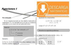 DESCARGAR FUNCIONES – ALGEBRA TERCERO DE SECUNDARIA