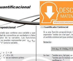 DESCARGAR FICHA DE LOGICA CUANTIFICACIONAL – CUARTO DE SECUNDARIA