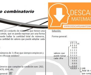 DESCARGAR MÉTODO COMBINATORIO – CUARTO DE SECUNDARIA
