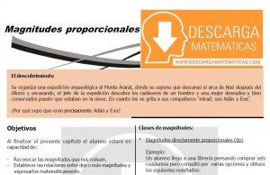 DESCARGAR MAGNITUDES PROPORCIONALES- CUARTO DE SECUNDARIA