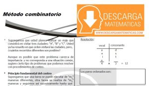 DESCARGAR METODO COMBINATORIO - QUINTO DE SECUNDARIA