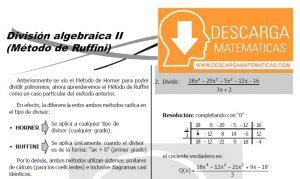 DESCARGAR METODO DE RUFFINI - ÁLGEBRA SEGUNDO DE SECUNDARIA