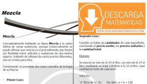 DESCARGAR MEZCLAS - CUARTO DE SECUNDARIA