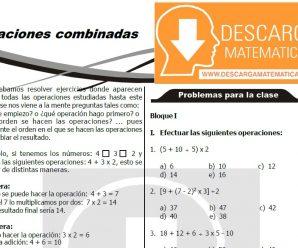 OPERACIONES COMBINADAS PARA ESTUDIANTES DE PRIMERO DE SECUNDARIA