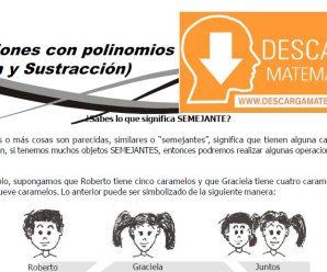 DESCARGAR OPERACIONES CON POLINOMIOS – PRIMERO DE SECUNDARIA