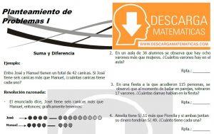 DESCARGAR PLANTEAMIENTO DE PROBLEMAS – PRIMERO DE SECUNDARIA