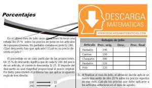 DESCARGAR PORCENTAJES - QUINTO DE SECUNDARIA