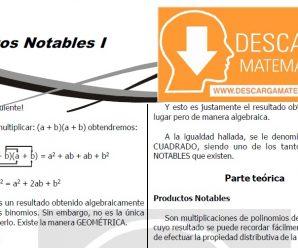 DESCARGAR PRODUCTOS NOTABLES – PRIMERO DE SECUNDARIA