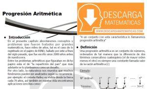 DESCARGAR PROGRESIÓN ARITMÉTICA - QUINTO DE SECUNDARIA