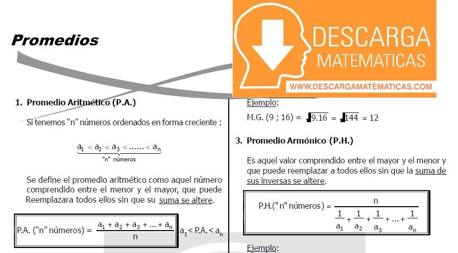 DESCARGAR PROMEDIOS - QUINTO DE SECUNDARIA