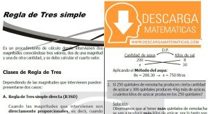 DESCARGAR REGLA DE TRES SIMPLE - CUARTO DE SECUNDARIA