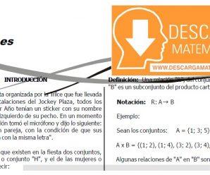 DESCARGAR RELACIONES – ALGEBRA PRIMER GRADO DE SECUNDARIA