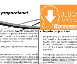 DESCARGAR REPARTO PROPORCIONAL – QUINTO DE SECUNDARIA