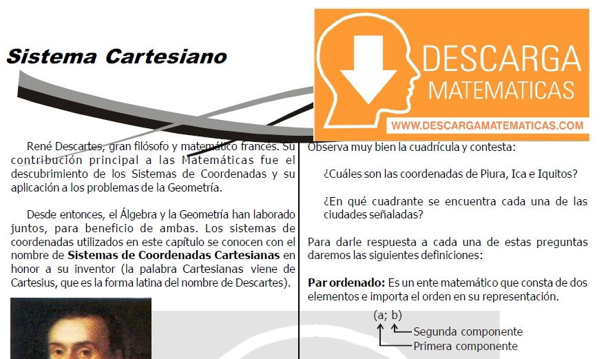 DESCARGAR SISTEMA CARTESIANO O PLANO CARTESIANO
