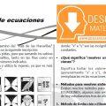 DESCARGAR SISTEMA DE ECUACIONES – ÁLGEBRA SEGUNDO DE SECUNDARIA