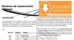 DESCARGAR SISTEMA DE NUMERACIÓN DECIMAL - CUARTO DE SECUNDARIA