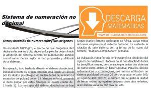 DESCARGAR SISTEMA DE NUMERACIÓN NO DECIMAL - CUARTO DE SECUNDARIA