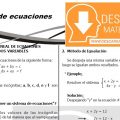 DESCARGAR SISTEMAS DE ECUACIONES LINEALES – ALGEBRA PRIMERO DE SECUNDARIA