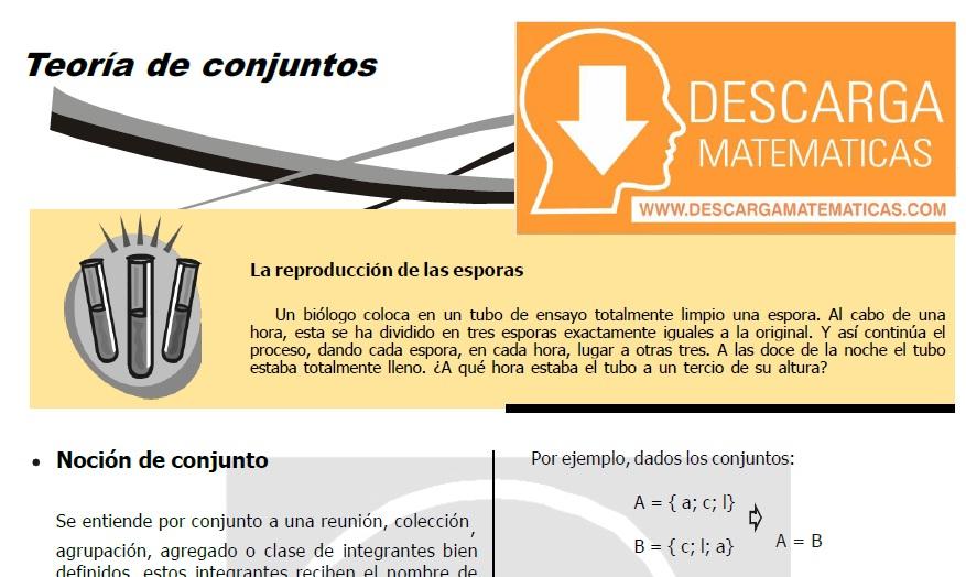 DESCARGAR TEORÍA DE CONJUNTOS- QUINTO DE SECUNDARIA