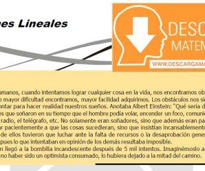 ECUACIONES LINEALES – ALGEBRA CUARTO DE SECUNDARIA