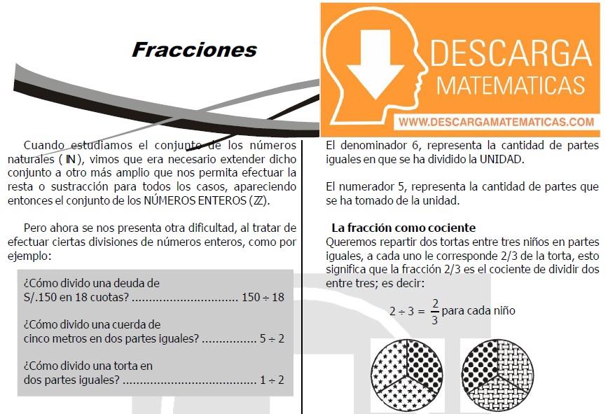 EJERCICIOS DE FRACCIONES PARA ESTUDIANTES DE PRIMERO DE SECUNDARIA