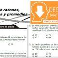 DESCARGA EJERCICIOS DE RAZONES, PROPORCIONES Y PROMEDIOS – SEGUNDO DE SECUNDARIA