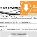 OPERACIONES CON CONJUNTOS PARA ESTUDIANTES DE TERCERO DE SECUNDARIA