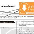 DESCARGAR PROBLEMAS DE CONJUNTOS PARA ESTUDIANTES DE TERCERO DE SECUNDARIA