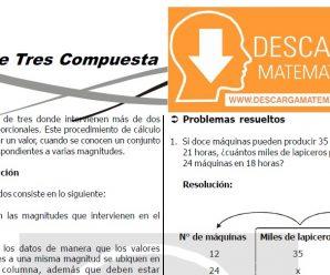 DESCARGAR REGLA DE TRES COMPUESTA – SEGUNDO DE SECUNDARIA