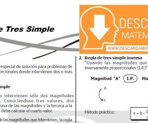 DESCARGAR REGLA DE TRES SIMPLE PARA ESTUDIANTES DE SEGUNDO DE SECUNDARIA