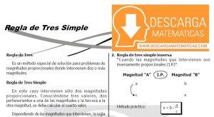REGLA DE TRES SIMPLE PARA ESTUDIANTES DE SEGUNDO DE SECUNDARIA