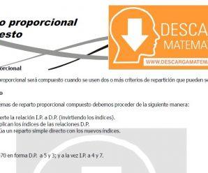 DESCARGAR REPARTO PROPORCIONAL COMPUESTO – SEGUNDO DE SECUNDARIA
