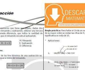 DESCARGAR SUSTRACCIÓN PARA ESTUDIANTES DE TERCERO DE SECUNDARIA