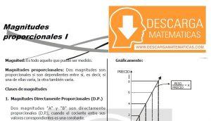 TEORÍA Y EJERCICIOS DE MAGNITUDES PROPORCIONALES - SEGUNDO DE SECUNDARIA