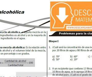 DESCARGAR TEORÍA Y EJERCICIOS DE MEZCLA ALCOHOLICA – SEGUNDO DE SECUNDARIA