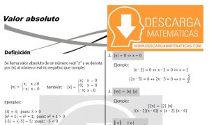 VALOR ABSOLUTO – ALGEBRA CUARTO DE SECUNDARIA